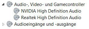 Audio, Video und Gamecontroller