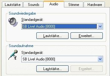 audiogerät für xp