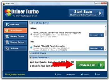 Scan & Download Drivers