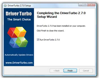 Finish Installation Driver Turbo