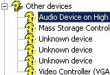 Device Manager Yellow Exclamation Mark