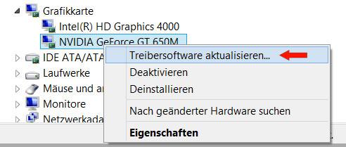 Windows 7 Treibersoftware aktualisieren