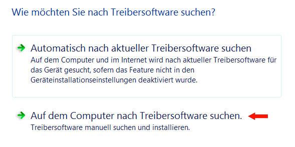 Treibersoftware suchen