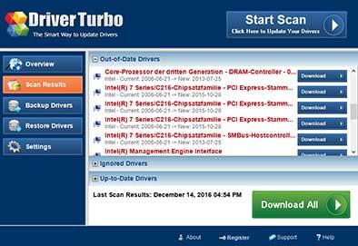 Chipsatz Treiber mit Driver Turbo aktualisieren