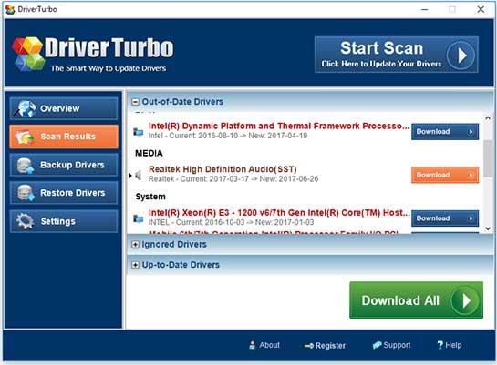 Driver Turbo Treiber Version Details