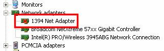 Netzwerkadapter - Rotes X
