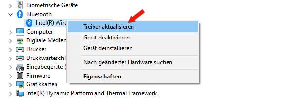 Bluetooth Treiber Update