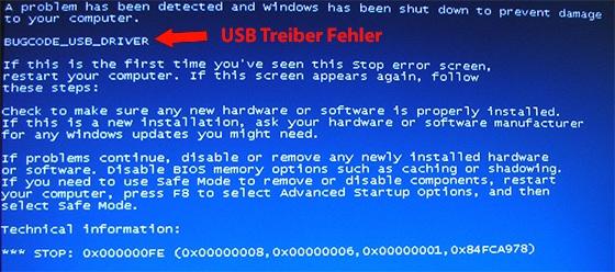 USB Bugcode Fehler